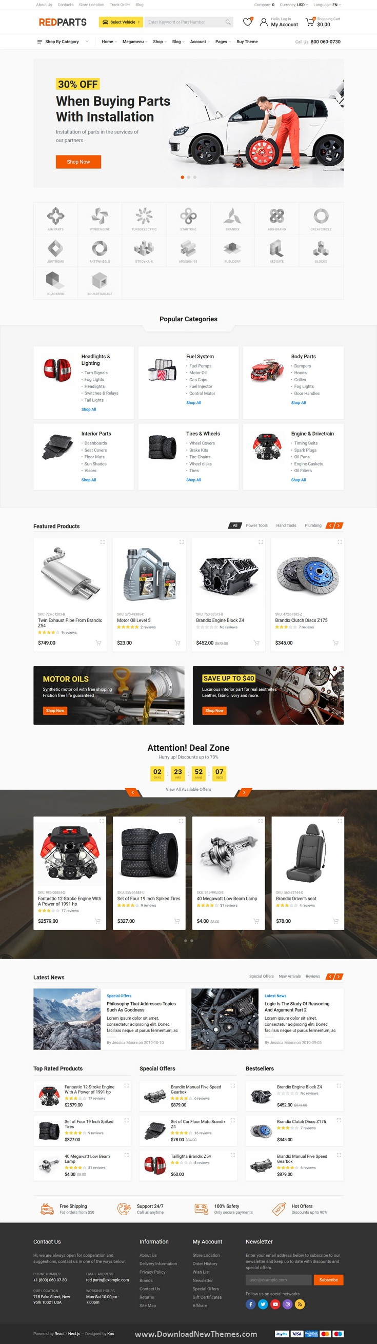 Auto Parts eCommerce Template