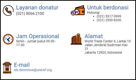 Layanan Donasi Online UNICEF