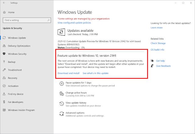 ¿Cómo descargar e instalar la actualización de Windows 10 21H1 ahora mismo?