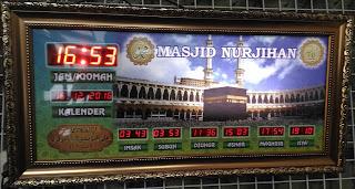 Jam digital masjid Running text