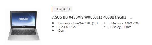 Harga Laptop Asus Core i3 X455MA