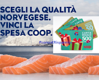 Concorso Salmone Norvegese : in palio 110 Carte regalo da 50 euro e 5 Card da 500 euro