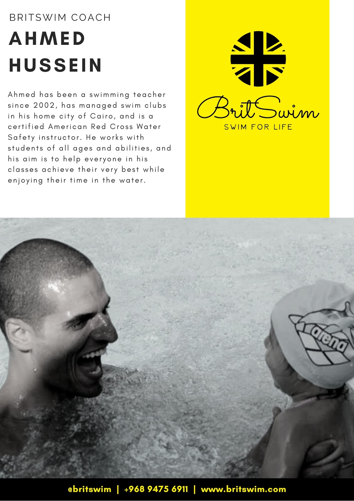 BritSwim swim class Muscat triathlon baby aquafit Unique Sports