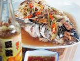 teochew steamed fish head