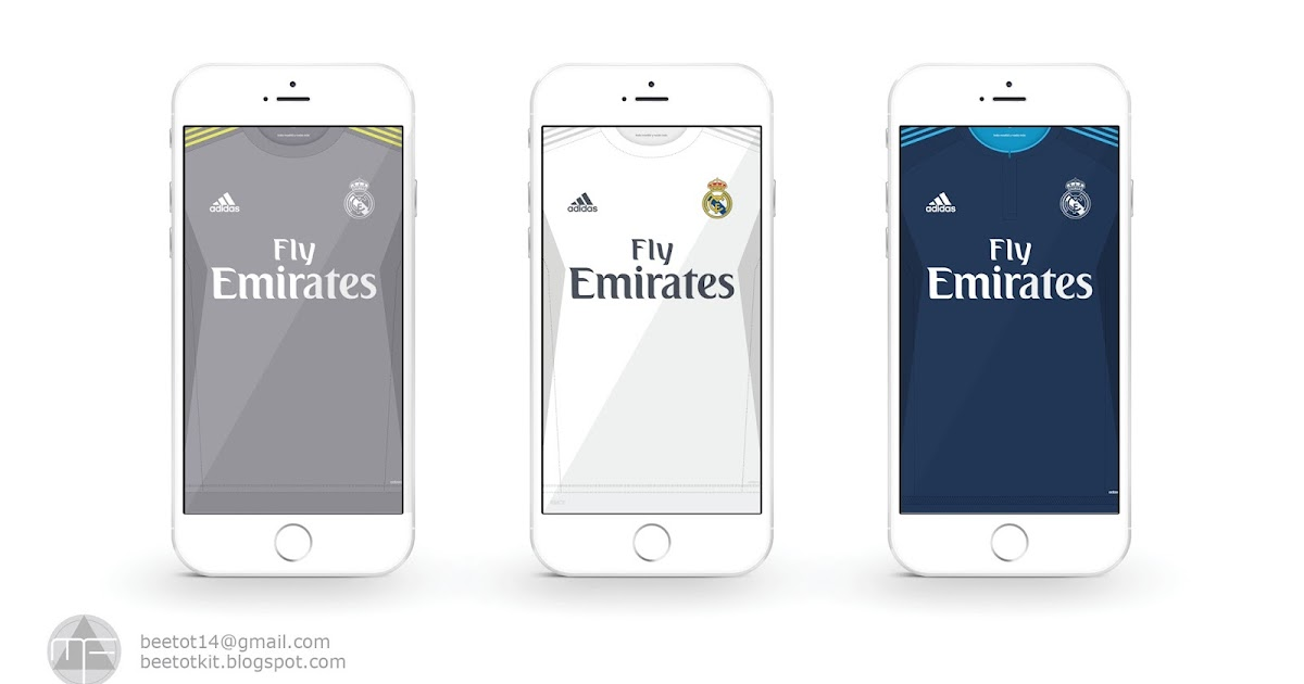 Beetot Kit: Real Madrid Kit 15/16 Iphone 6 Wallpaper