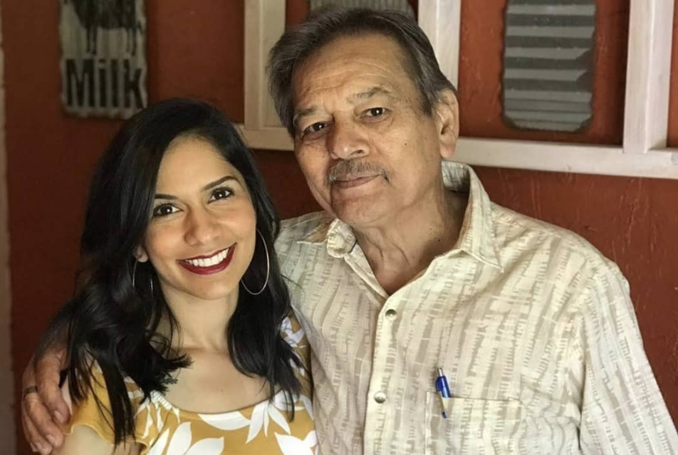 Sandra and her father