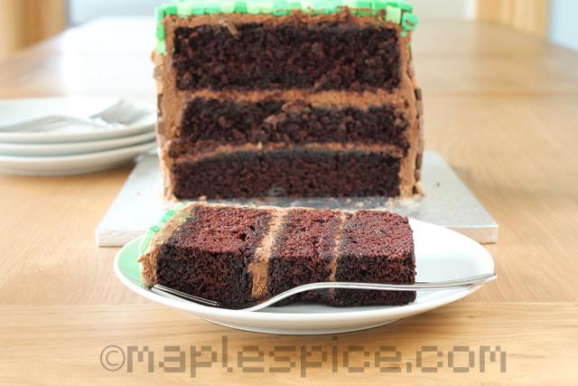 Maple Spice Minecraft Cake