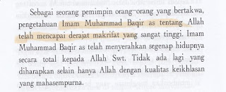Aqidah Syiah: Imam Muhammad Baqir telah Mencapai Derajat Makrifat yang Sangat Tinggi