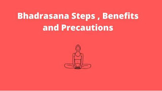 Bhadrasana steps benefits and precautions