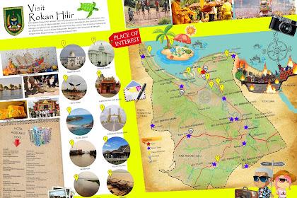 Peta Wisata Kabupaten Rokan Hilir (Rohil) - Tourism Map of Rokan Hilir - Riau - Indonesia