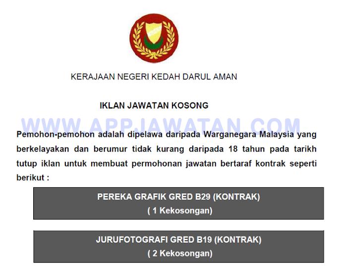 Jawatan Kosong Terkini di Kerajaan Negeri Kedah Darul Aman.