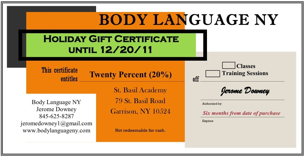 Body Language JD Give the Gift of Health  Fitness!