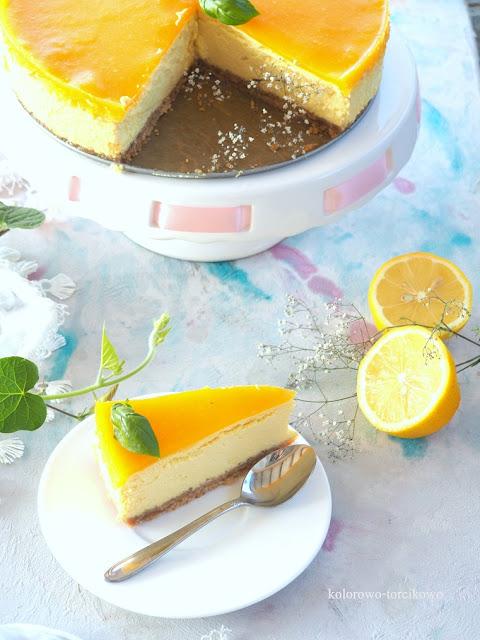 sernik pieczony z mango