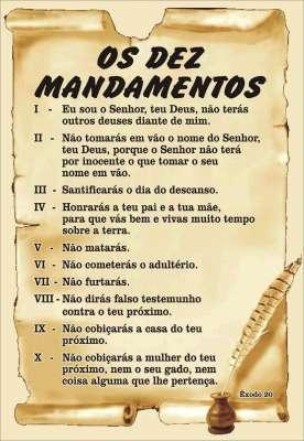 OS DEZ MANDAMENTOS E A CONSTITUIÇÃO - Prof Raul Iturra ...