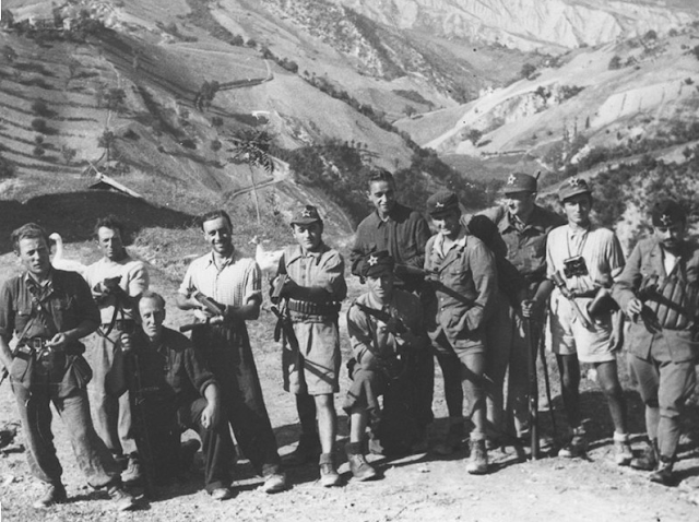 Italian partisans in the mountains