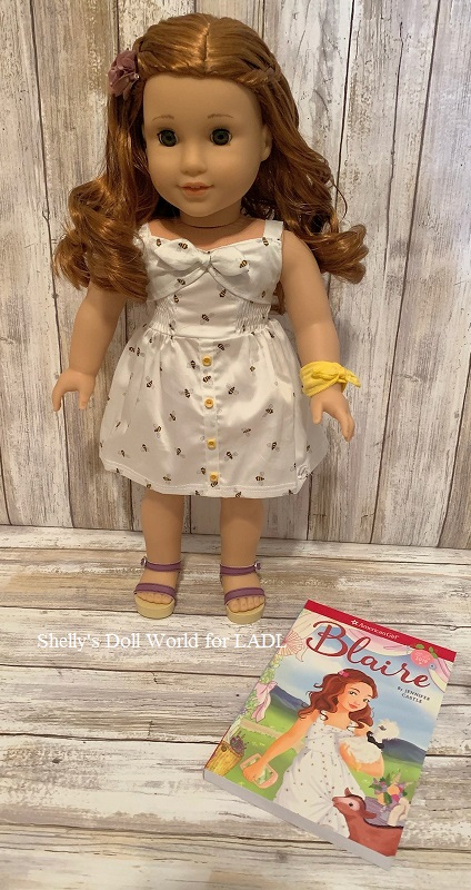 American Girl Doll Blaire Meet Outfit Comb Flower