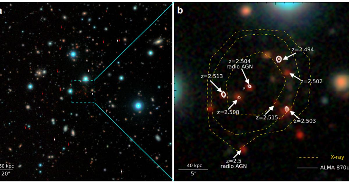 Il più lontano ammasso galattico mai osservato