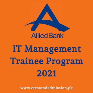 allied bank it management trainee program 2021