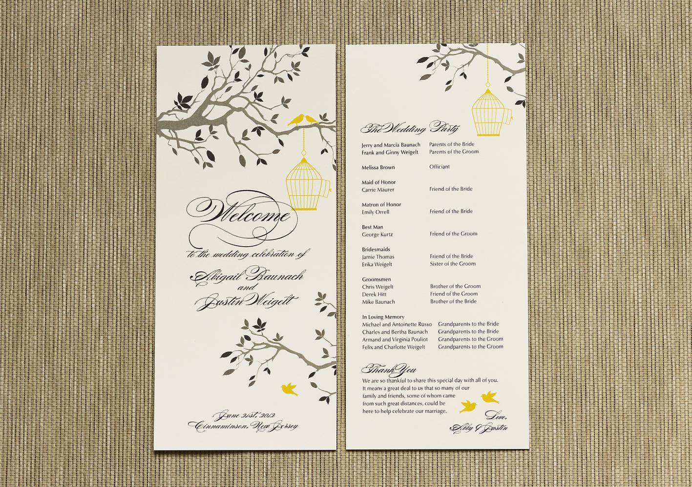 Wedding Programs Wedding