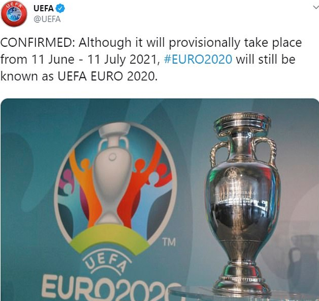 UEFA xác nhận đăng nhầm thông tin về EURO 2020 2