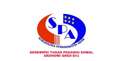 Deskripsi Tugas, Gaji dan Kelayakan Pegawai Ehwal Ekonomi Gred E41