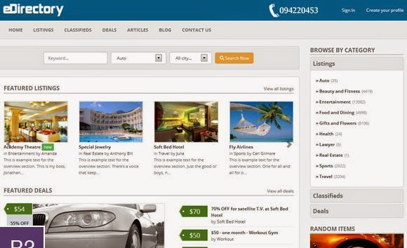 Best Classifieds Ads Website Themes 2015