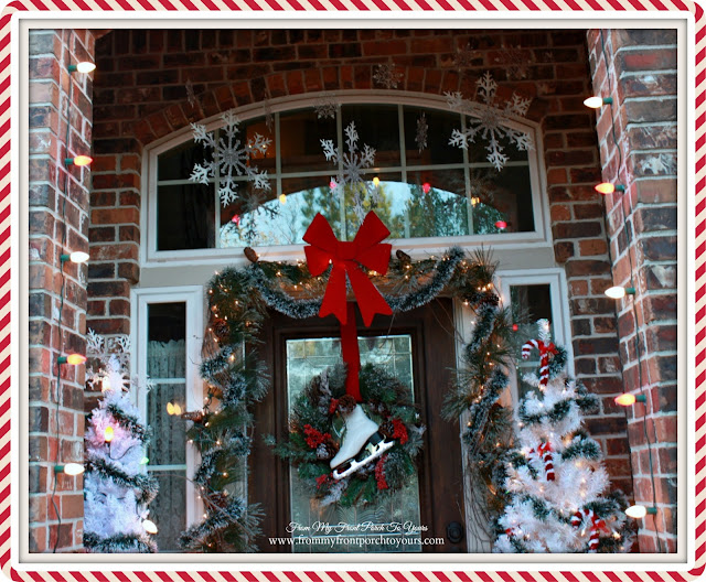 Vintage Inspired-Winter Wonderland-Snowflakes-Christmas Front Porch-From My Front Porch To Yours