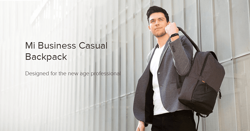 Xiaomi Business Casual Backpack with water resistance announced
