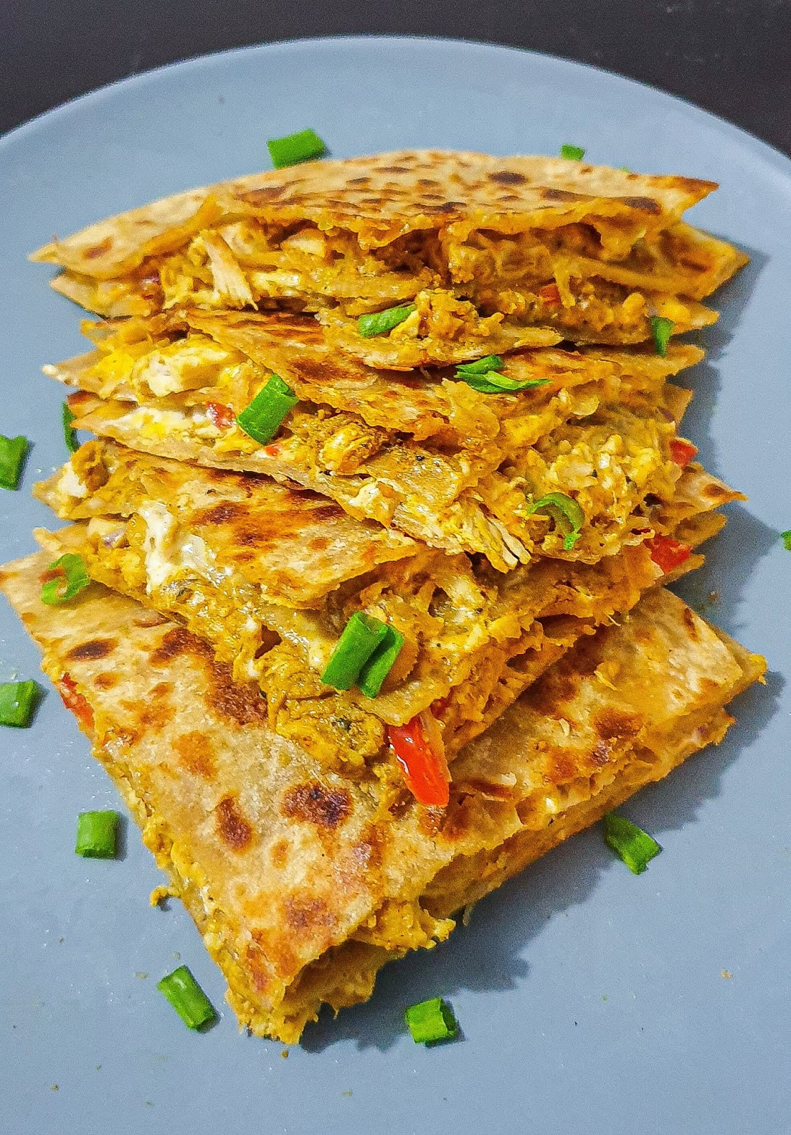 chicken and cheese whole wheat quesadillas