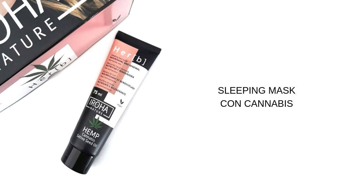MASCARILLA FACIAL DE NOCHE (SLEEPING MASK) CON CANNABIS