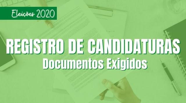 DOCUMENTAÇÃO NECESSÁRIA PARA REGISTRO DAS CANDIDATURAS 2020
