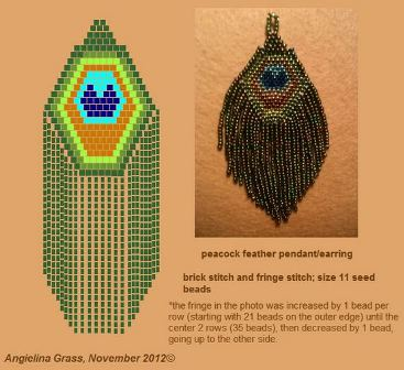 Fabulous Faux Peacock Feather Earrings Tutorials - The ...