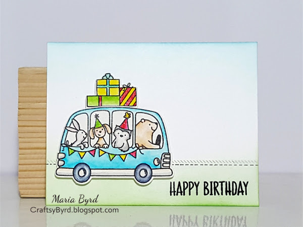 Avery Elle: Happy Birthday Bus Card