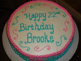 Vicki S Sweet Treats Brooke S 22nd Birthday Cake
