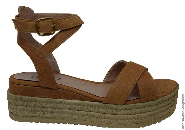 Sandalias primavera verano 2020 base yute. Moda calzado primavera verano 2020.
