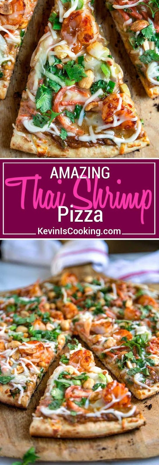Amazing Thai Shrimp Pizza