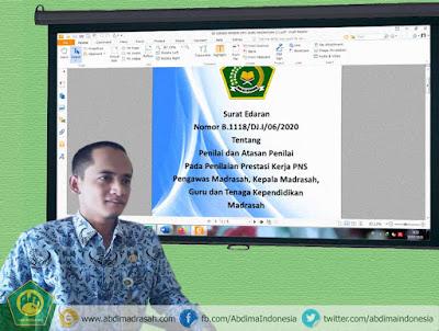 Pejabat Penilai dan Atasan Penilai SKP Guru dan Tenaga Kependidikan Madrasah