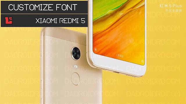 Tutorial Font Xiaomi Redmi 5 Rosy MIUI 9