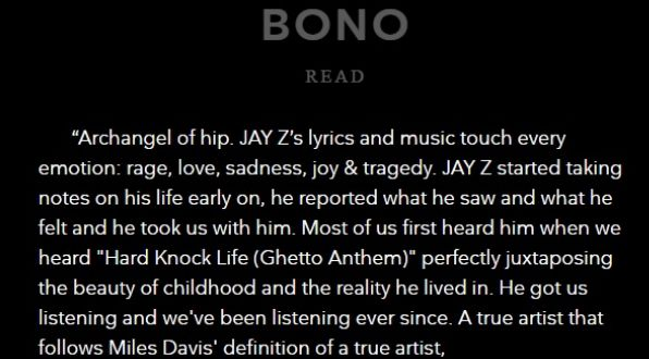 Bono Respect Jay Z's Induction Into Songwriter's Hall Of Fame