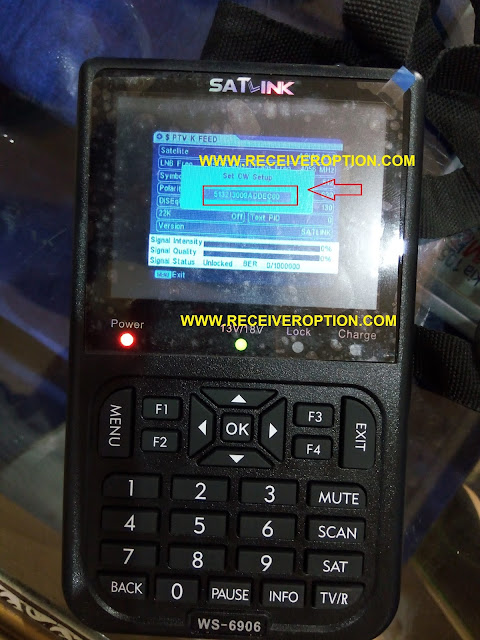 HOW TO ADD BISS KEY IN SATLINK WS-6906 SATELLITE FINDER