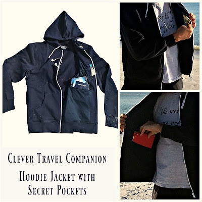 Clever Travel Companion Hoodie Jacket with Concealed Secret Pockets Review
