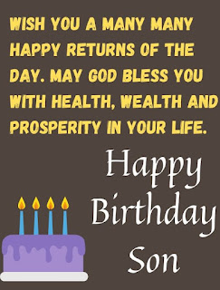 special birthday wishes for son