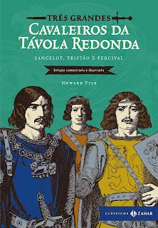 Capa do livro Três grandes cavaleiros da távola redonda
