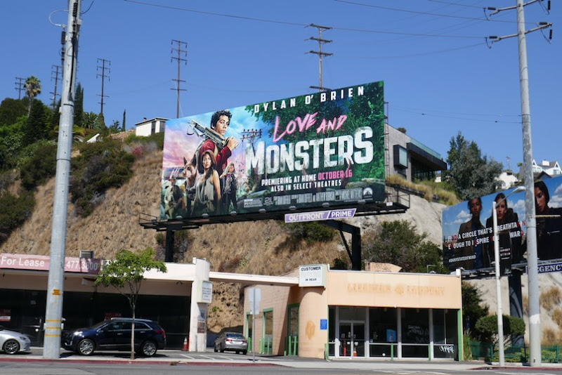 Love and Monsters billboard