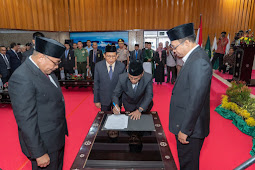 Gubernur Lantik Pejabat Definitif Sekda NTB
