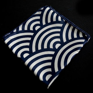 Navy White Stripes Pocket Square Cotton Men Handkerchiefs Hanky Handmade Factory