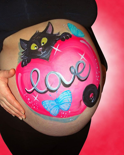 Pregnant Belly Artworks seni melukis perut wanita hamil yang keren-10