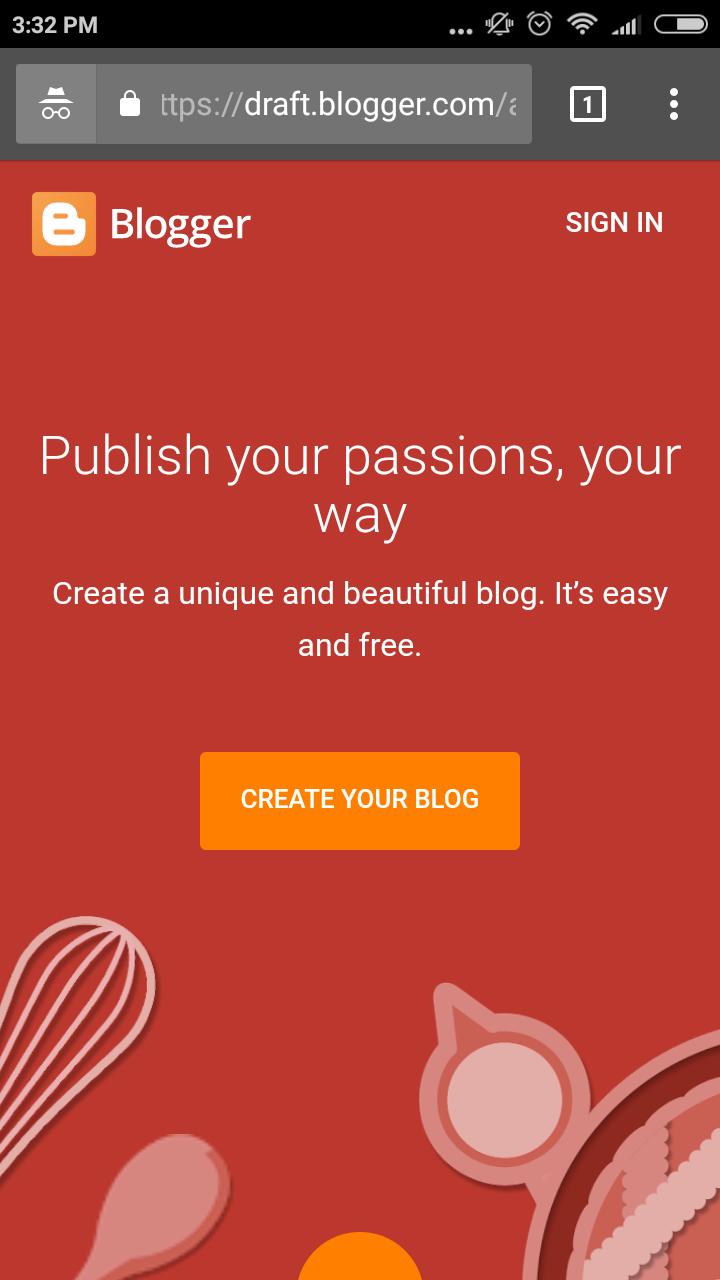 cara mudah membuat blog di blogspot masuk ke akun gmail
