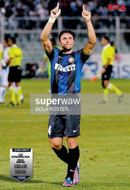 Javier Zanetti Inter Milan 2012