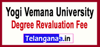 YVU Yogi Vemana University Degree Revaluation Fee  ( l/ll/lll Year) 2017 Revaluation Fee